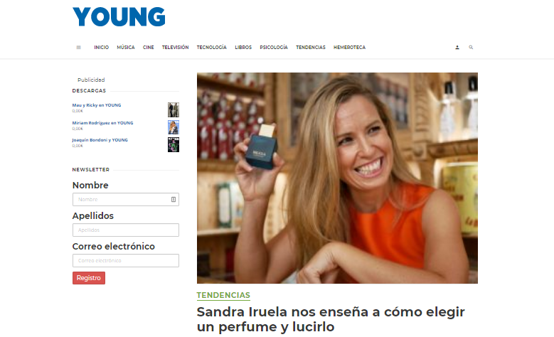 Sandra Iruela Revista Young